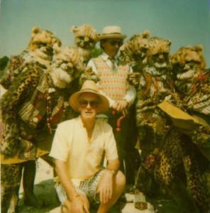 Ken Trew, Sylvester McCoy i Cheetah na planie Survival (1989)