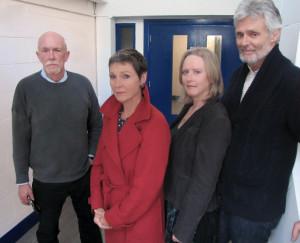 Od lewej: Hugh Ross, Pamela Salem, Karen Gledhill, Simon Williams.