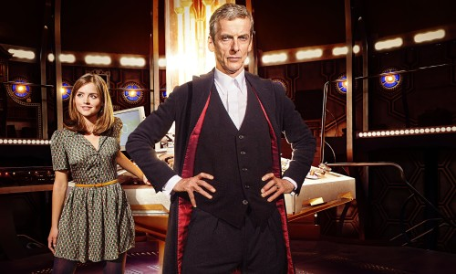 About time … Peter Capaldi as Doctor Who and Jenna Coleman as Clara.