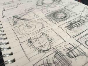 Fragment storyboardu do czołówki w wersji umieszczonej na YouTube.