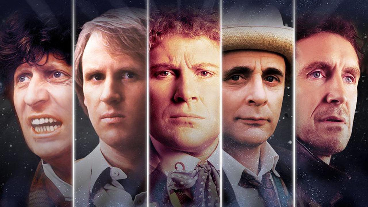 Od lewej: Czwarty Doktor, Pią