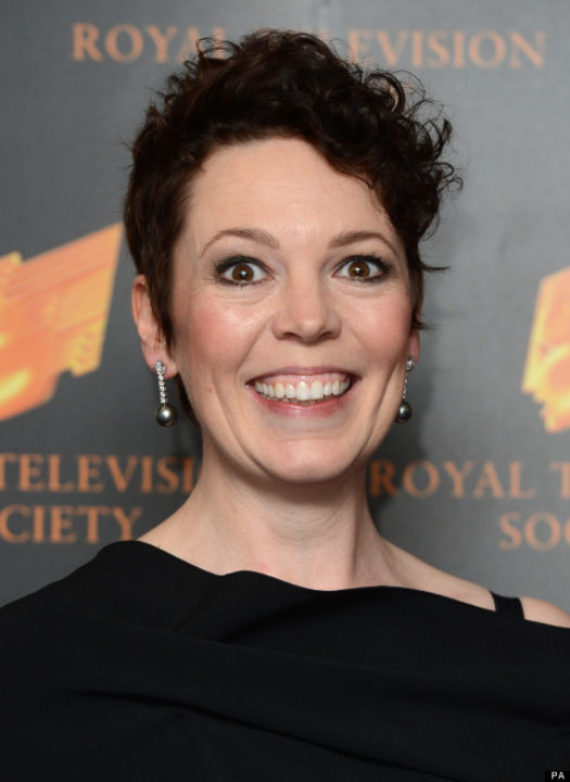 Olivia Colman arriving at the RTS Programme Awards 2013, Grosvenor House Hotel, London.