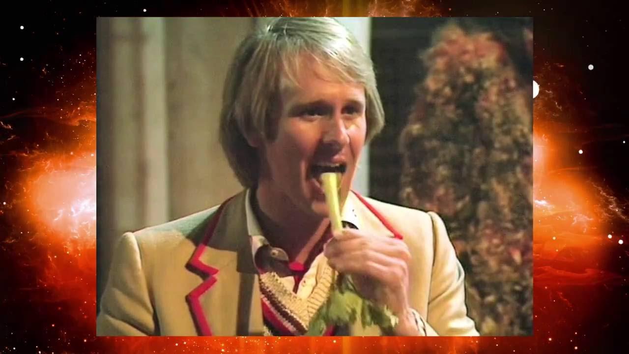Piąty Doktor wcina seler