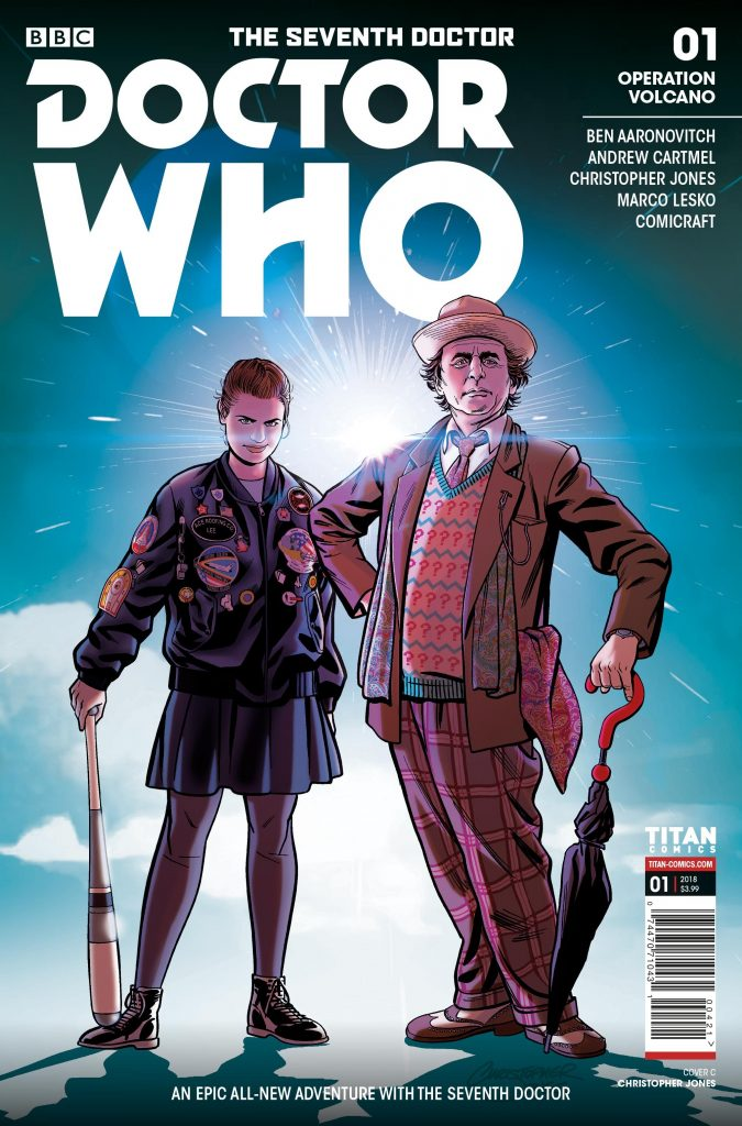 Siódmy Doktor i Ace na okładce komiksu