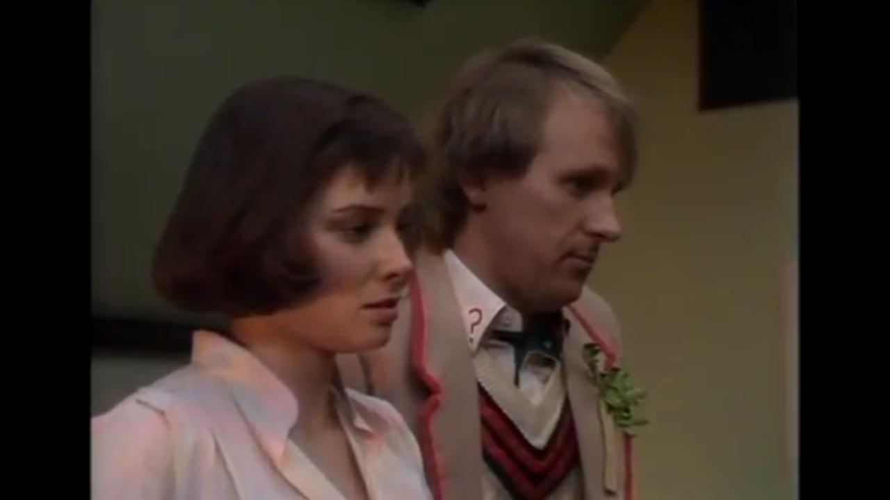 Piąty Doktor i Peri Brown