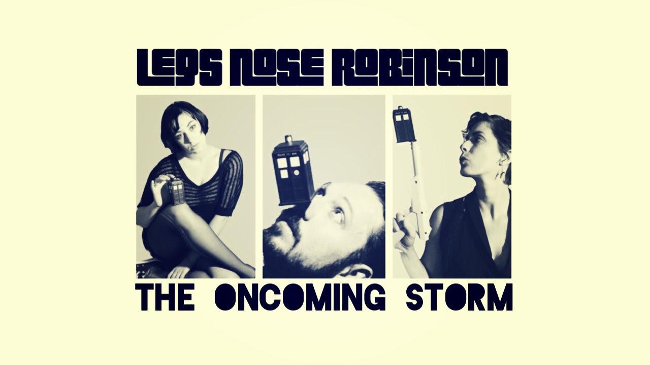Okładka EP The Oncoming Storm zespołu Legs Nose Robinson