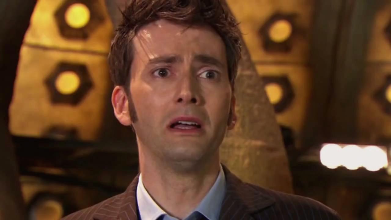 Dziesiąty Doktor na moment przed regeneracją