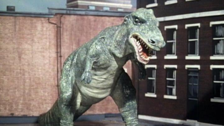 """Dinozaur z klasycznego odcinka """"Inwazja dinozaurów"""""""