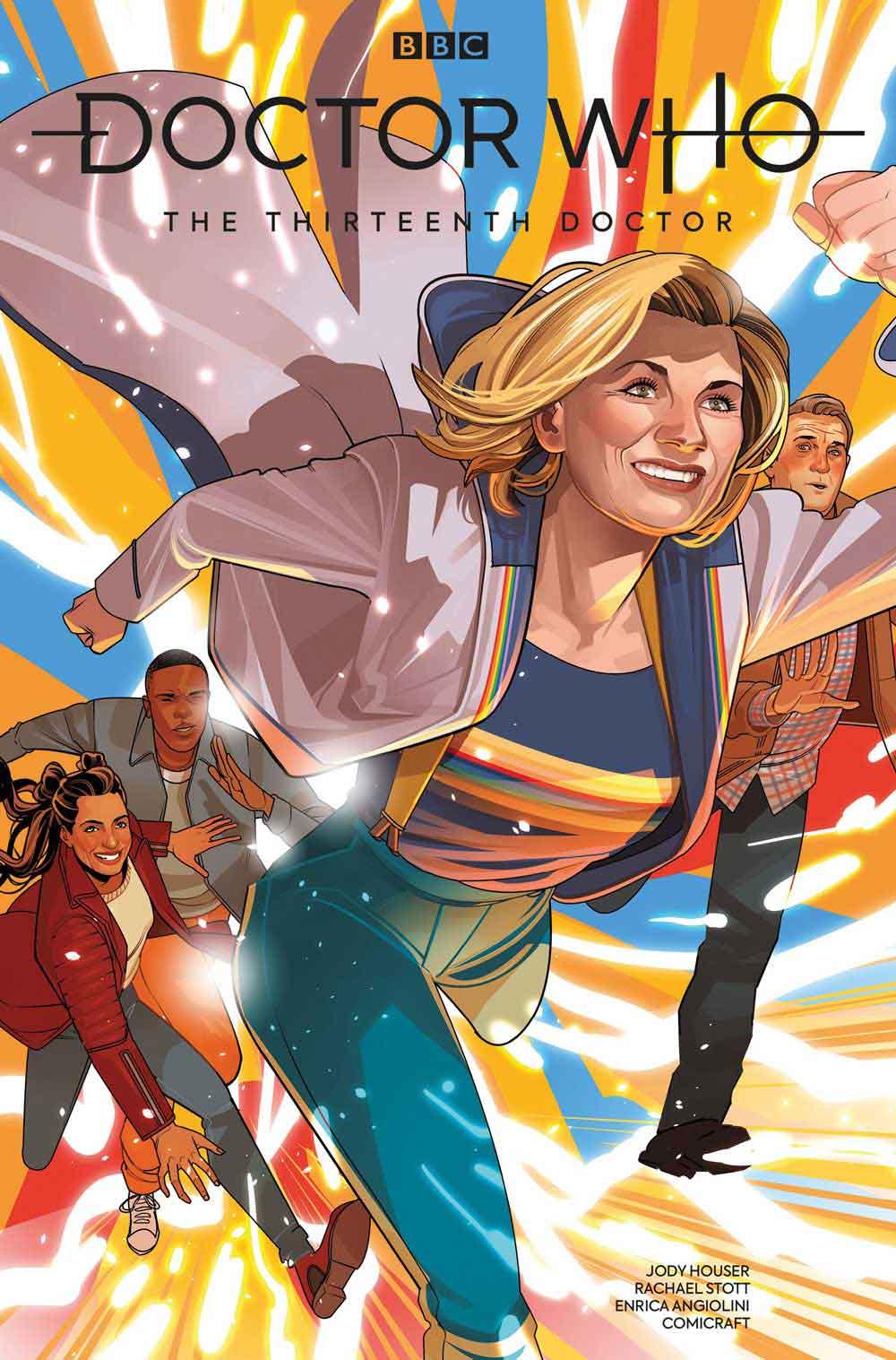 Okładka komiksu z serii o Trzynastej Doktor autorstwa Jody Houser.