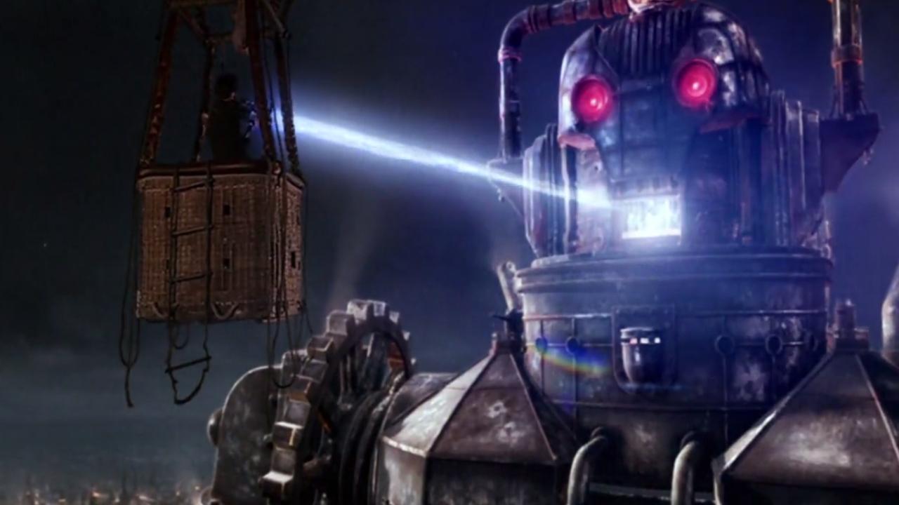 Dziesiąty Doktor pokonuje Cyberkróla.