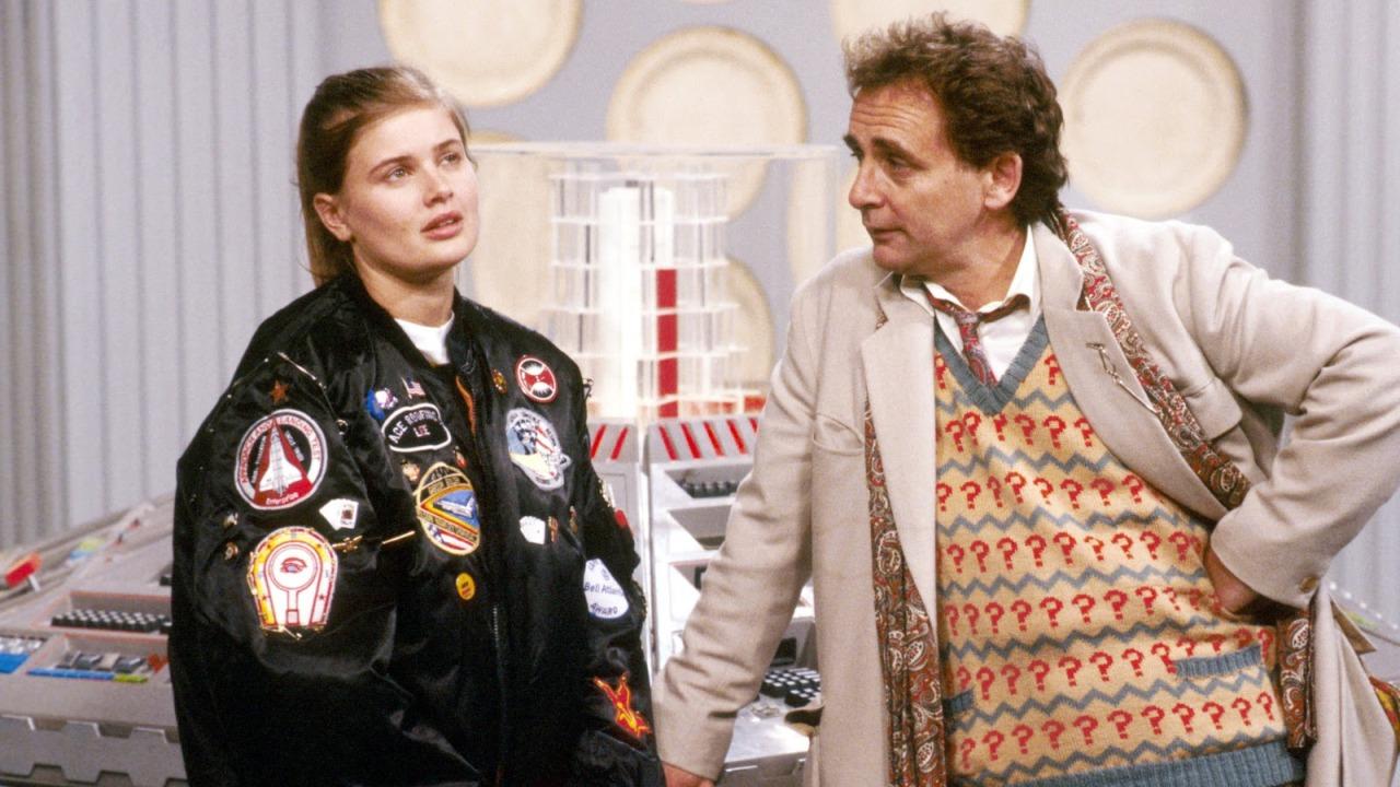 Siódmy Doktor i Ace na pokładzie TARDIS