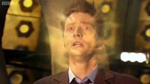 Dziesiąty Doktor podczas regeneracji w Jedenastego