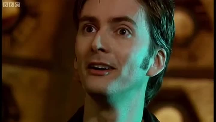 Dziesiąty Doktor tuż po regeneracji