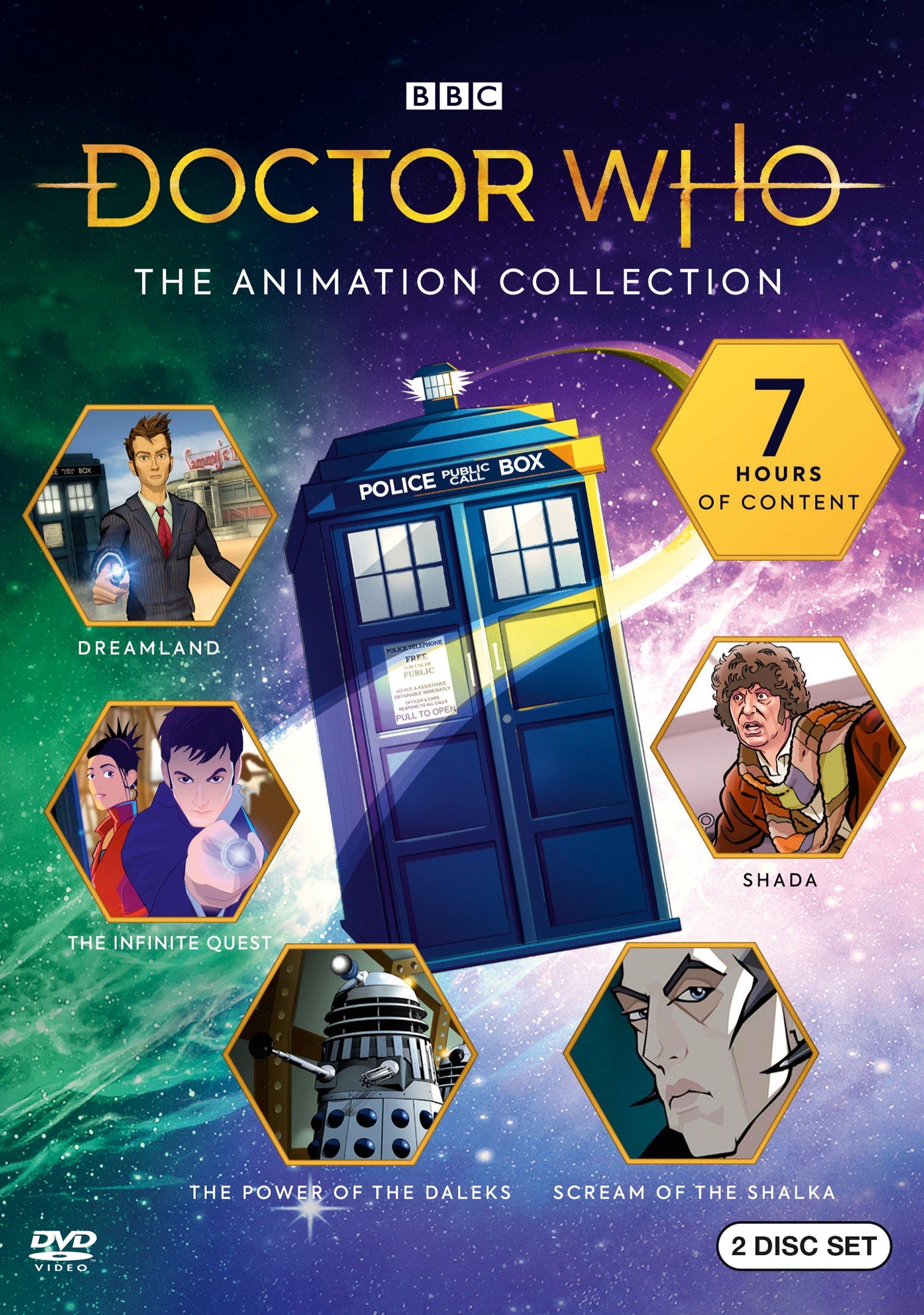 """Okładka zbioru animowanych przygód """"Doctor Who: The Animation Collection"""""""