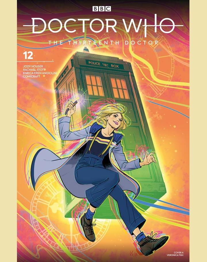Okładka 12 odcinka komiksu o przygodach Trzynastej Doktor.