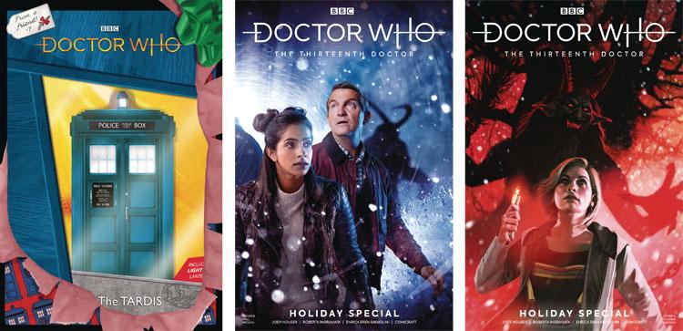 Grafiki promujące świąteczny komiks.