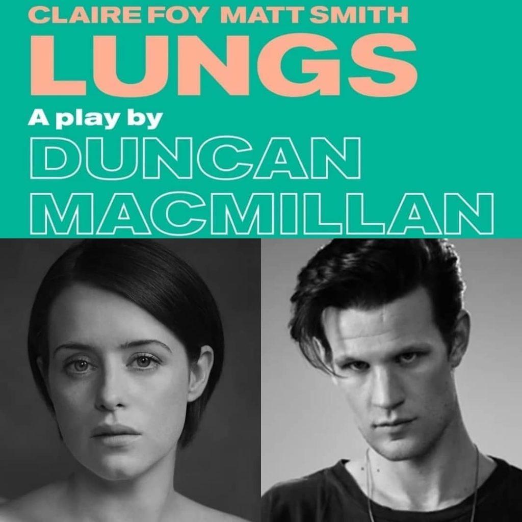 """Co w trawie piszczy? Matt Smith i Claire Foy wystąpią w sztuce """"Lungs""""."""