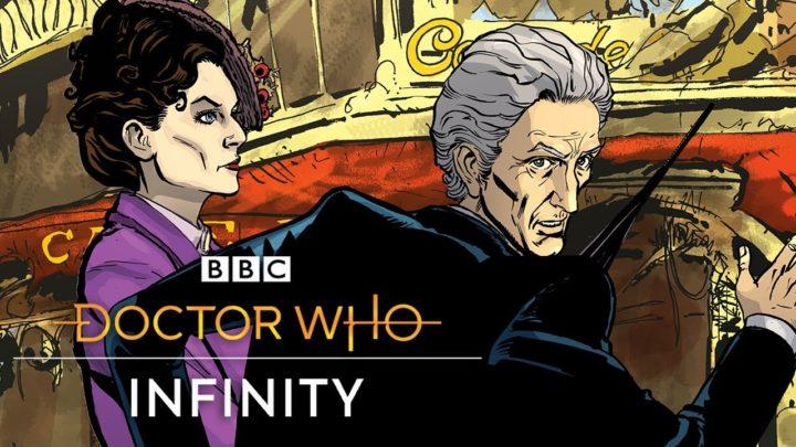 "Grafika historii ""The Dalek Invasion of Time"" z gry ""Doctor Who Infinity""."