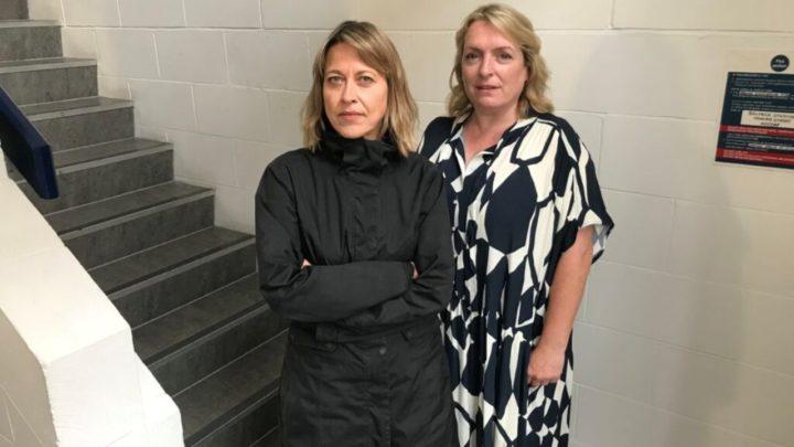 """Nicola Walker i Claire Rushbrook, aktorki występujące w """"The Robots""""."""