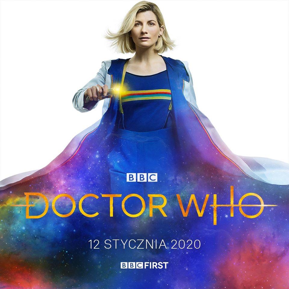Grafika promująca polską premierę 12 serii Doctor Who na BBC First.