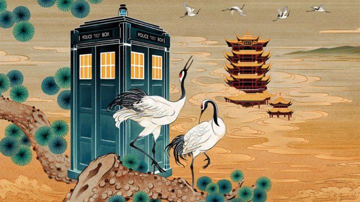 Jedna z grafik promujących Doctor Who w Chinach.
