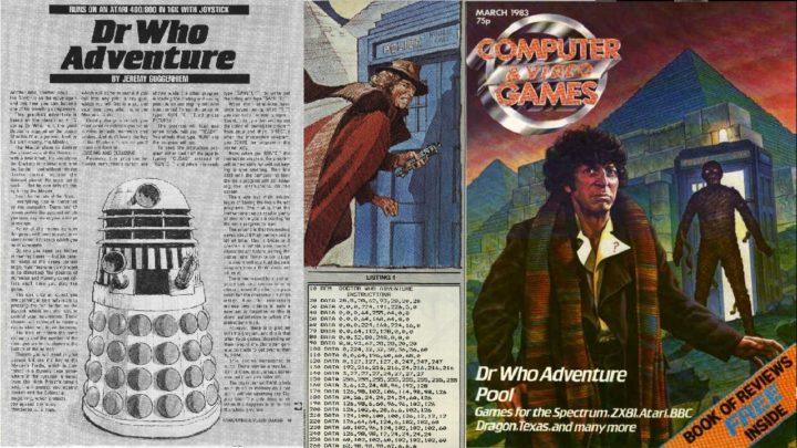 okładka i opis gry dr who adventure z czasopisma computer and video games