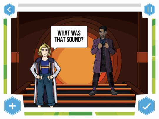 screen z gry doctor who comic creator