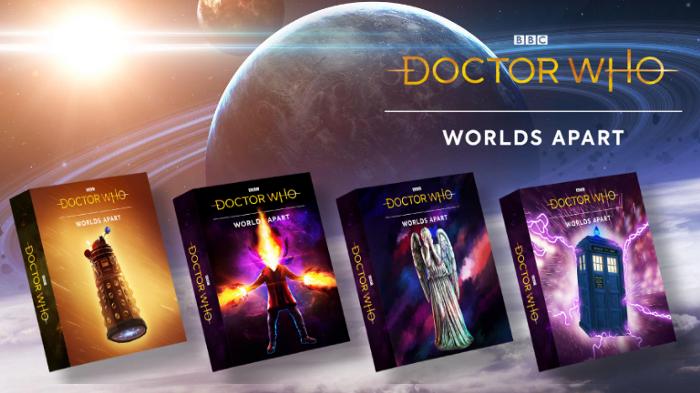 grafika promocyjna gra karciana doctor who worlds apart