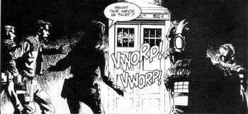 Nemesis of the Daleksinny komiks kadr