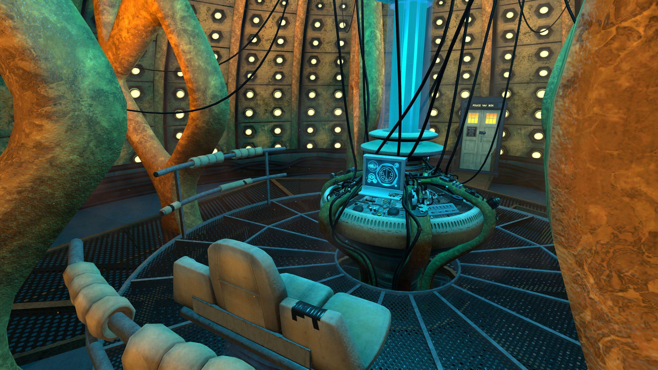 wnętrze TARDIS Dziesiątego Doktora