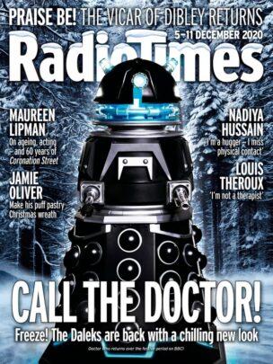 okładka Radio Times - nowi czarni Dalekowie