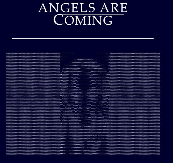anioł ascii