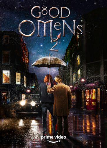 plakat 2 sezonu serialu dobry omen, nad którym będzie pracować neil Gaiman